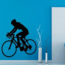Cycling Home Decor Cycling Bicycle Bike Removable Wall Sticker Decal Posters Vinyl