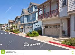 hillside homes new homes in richmond california on a hillside stock photo