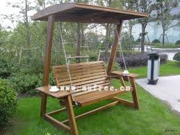outdoor swing frames wooden swing chair 3 people ml 024 sell