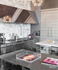 Eclectic Silver Kitchen Luxesource Luxe Magazine The Luxury