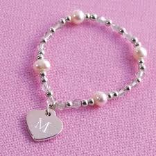 flower girl charm bracelet flower girl heart charm bracelet elastic flower girl charm
