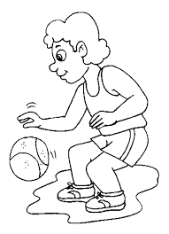 boy playing basketball coloring pages sport coloring pages of