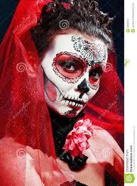 Sugar Skull Halloween Makeup Halloween Make Up Sugar Skull Stock Photography Image 34960912