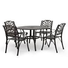 Black Cast Aluminum Patio Furniture Cast Aluminum Patio Furniture By Hanamint St Augustine Dining