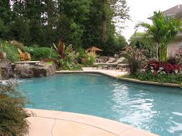 Pool Ideas For Small Backyard Swimming Pool Landscaping Ideas Inground Pools Nj Design Pictures
