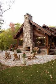 small log cabins floor plans mountain cabin hillside house rear