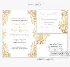 White And Gold Wedding Invitation Cards White Gold Wedding Invitations U0026 Rsvp Postcards Printed