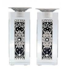 judaica shabbat accessories shabbat candlesticks judaica more