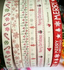 cotton ribbon online shop 7 designs printed 15mm printed ribbons christmas
