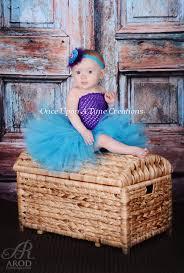 Baby Mermaid Halloween Costume Purple Turquoise Blue Tutu Dress Birthday Halloween