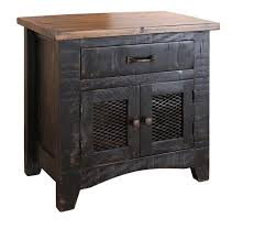 barn door side table anton distressed black bedside table nightstand matches barn door
