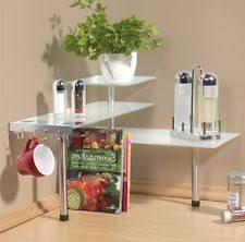 eckregal küche küchen eckregal regal küchenregal glas ebay