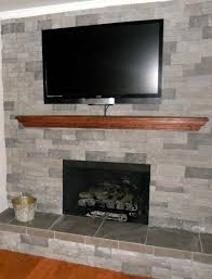 air stone over brick fireplace fireplace ideas
