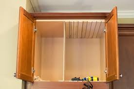 Kitchen Oven Cabinets Kitchen Diy Adding Cookie Sheet Tray Storage Above The Oven