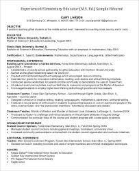 First Grade Teacher Resume Examples Professional Teacher Resume Templates 23 Free Word Pdf