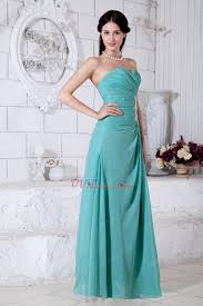 appliques empire long turquoise bridesmaid dresses