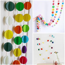 3m diy colorful hanging 3d paper garland ornaments string chain