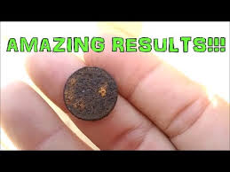 rusty 1943 steel wheat penny cleaned amazing results youtube