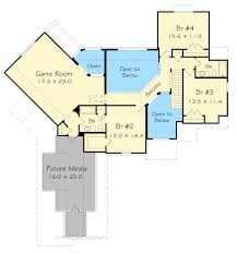 Game Room Floor Plans Angled Hearth Room House Plan 68048hr Architectural Designs