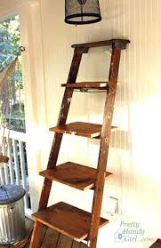 Diy Ladder Bookshelf Ladder Shelf Plans Woodwork City Free Woodworking Plans