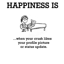 595 happiness is when your crush likes your profile picture or