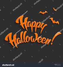 happy halloween vector background hand lettering stock vector