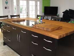 Kitchen Island Designs With Cooktop Kitchen Design Laminate Wooden Flooring Wood Butcher Block
