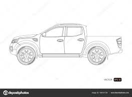 blueprint of suv contour drawing of car on a white background