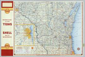 Maps Wisconsin by Shell Highway Map Of Wisconsin Northern Portion David Rumsey