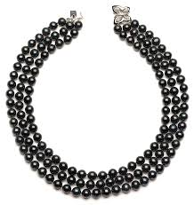 jewelry black pearl necklace images Triple strand black pearl necklaces american pearl jpg