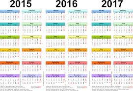 three year calendars for 2015 2016 u0026 2017 uk for word