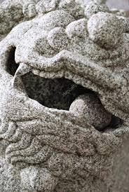 shishi statue shishi guardian lion statue details stock photo