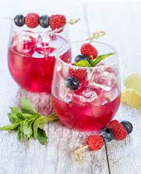 raspberry margarita blueberry margaritas garnish with lemon