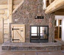 Indoor Outdoor Wood Fireplace Double Sided - acucraft fireplaces custom see through wood burning indoor
