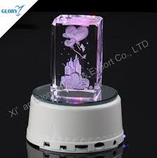 Engravable Music Box Crystal Cube 3d Laser Engraving Birthday Gift Music Box