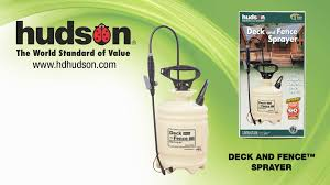 hudson deck and fence sprayer video overview hd youtube
