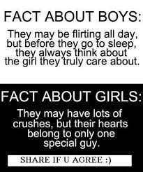 facts about boys and girls in the end cute relatable quotes