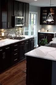 espresso kitchen cabinets with white quartz countertops kitchen cabinets with light countertops home designs