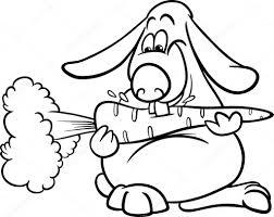 lop rabbit with carrot coloring page u2014 stock vector izakowski