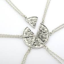 necklace best friends images 6pcs pizza pendant necklaces friendship necklace best friends jpg
