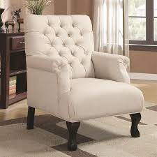 White Leather Wingback Chair Chair Accent Seating Traditional Cottage Styled Chair Leather