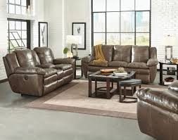 Catnapper Leather Reclining Sofa Aria Smoke Collection 419 Italian Top Grain Leather With Lay Flat