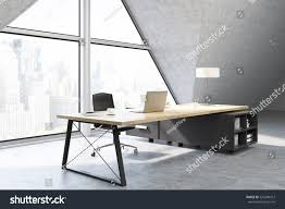 side view ceo office large triangular stock illustration 524290312