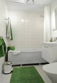 Bath Shower Combos Square Tub Shower Combo Simple White Small Bathroom Design With