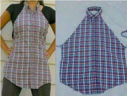 how to make apron from shirts step by step diy tutorial
