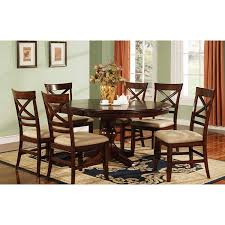 amazon com winners only topaz pedestal dining table cherry