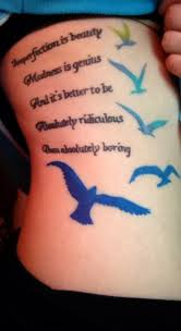marilyn quote and birds s bird tattoos