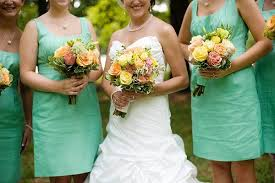 wedding wishes from bridesmaid real weddings carla seth mint green bridesmaids yellow