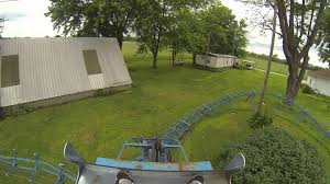 backyard kiddie roller coaster blue too pov in hd youtube