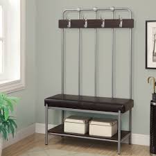 Entryway Bench And Storage Shelf With Hooks Styles Of Corner Entryway Bench Layouts Homesfeed